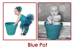 baby photo in pot